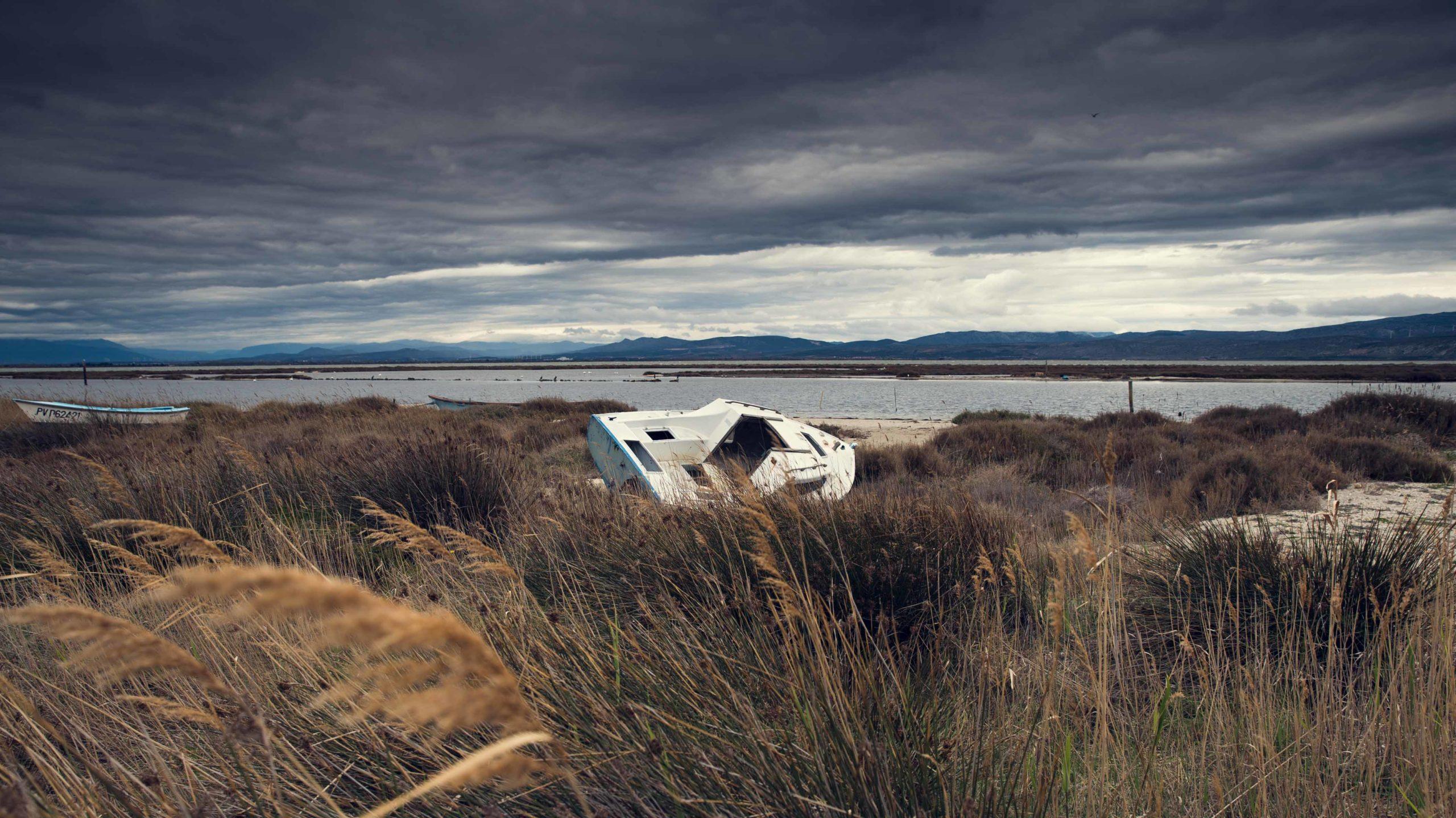 photo paysage mer océan triste voyage photographe toulouse sombre nuage abandonné