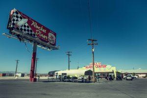 Station essence américaine dans le Nevada. Proche Zone 51
